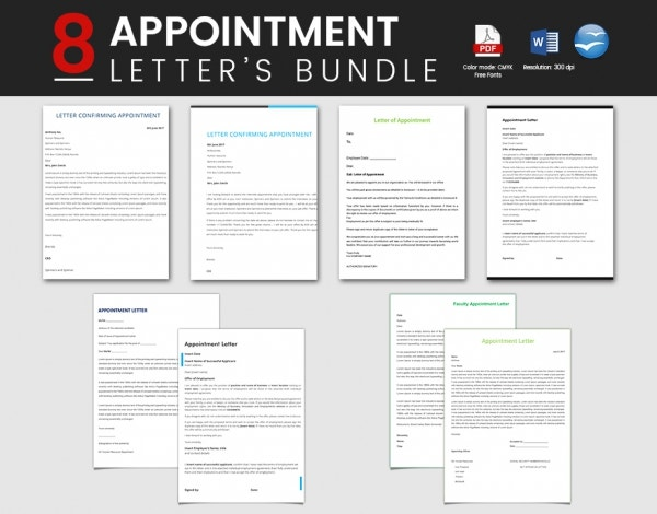Beautifully Designed Appointment Letters Bundle