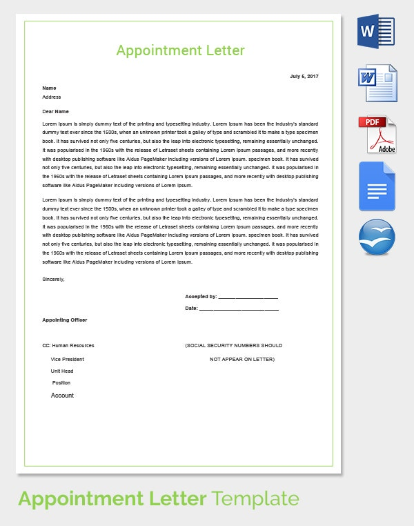 HR Appointment Letter
