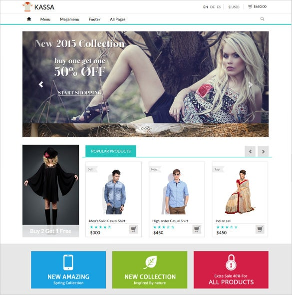 attractive retina ready ecommerce responsive template