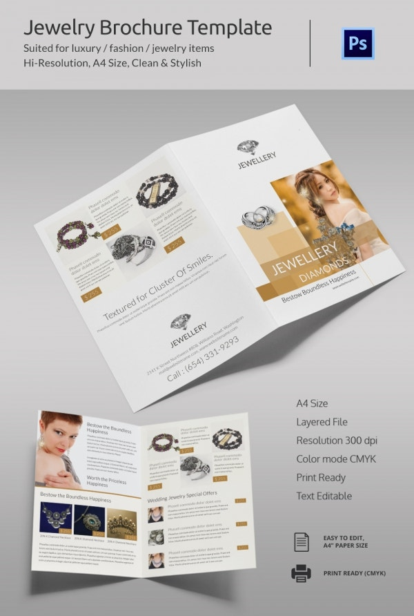 21  jewelry brochure templates