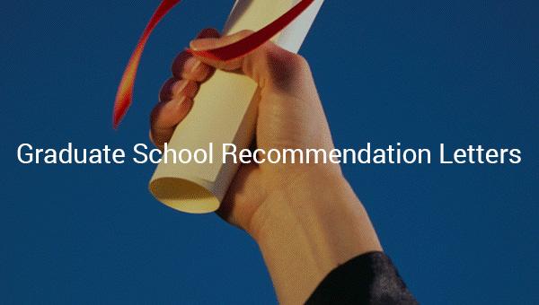 graduateschoolrecommendationletters