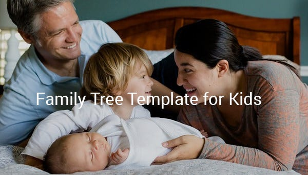 family tree template for kid