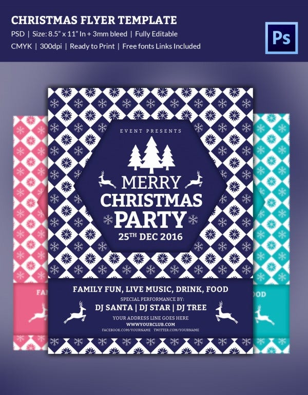 fully loaded christmas party flyer template1