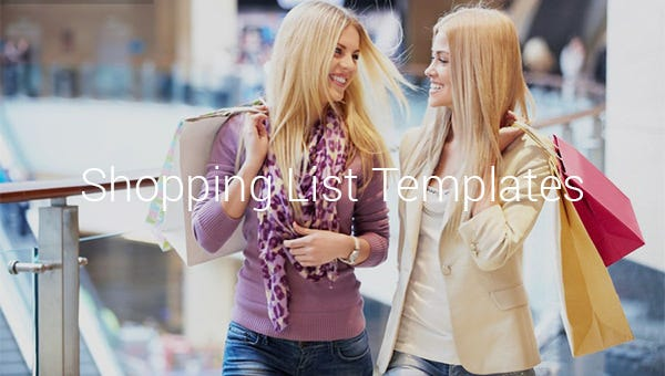 shopping list templates