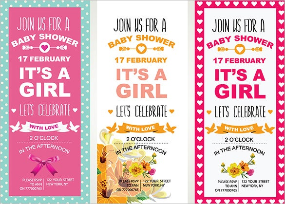 3 baby shower invitation eps designs