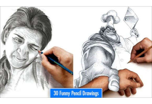 30 most funniest pencil drawings and art works