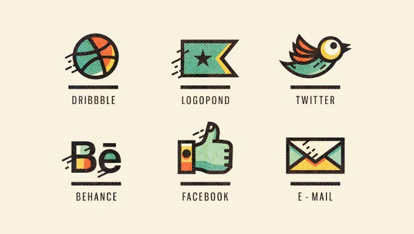 social media icons template