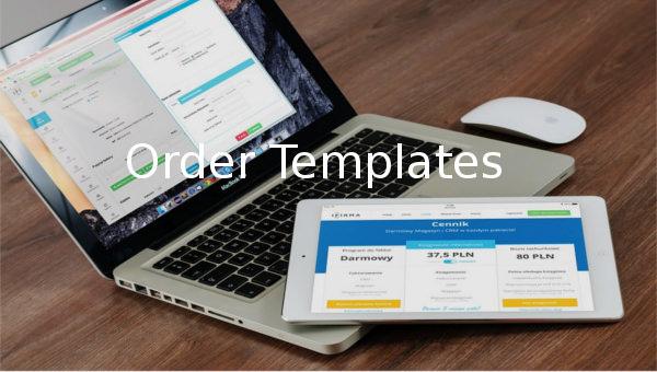 order templates1