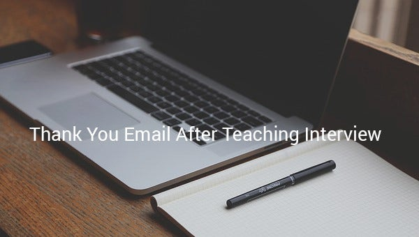 thank you email after teaching interview