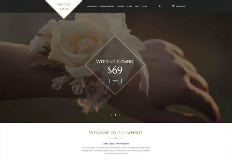 wedding shop psd template 788x547