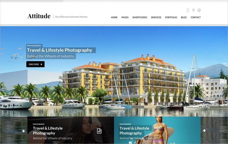 attitude multipurpose website psd template 788x499