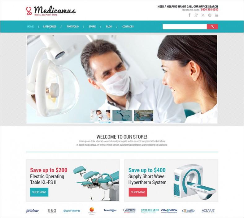 medical equipment psd template 788x702
