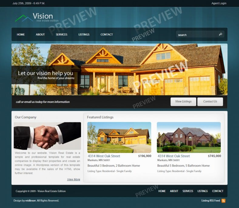 11 real estate website templates themes free premium free modern xhtmlcss real estate website template 17 free demo download pronofoot35fo Gallery