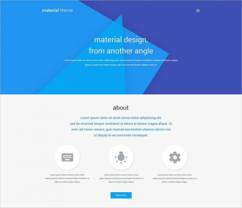 material design portfolio wordpress theme 788x675