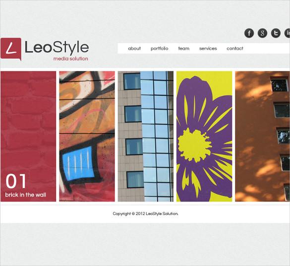 html5 portfolio website template