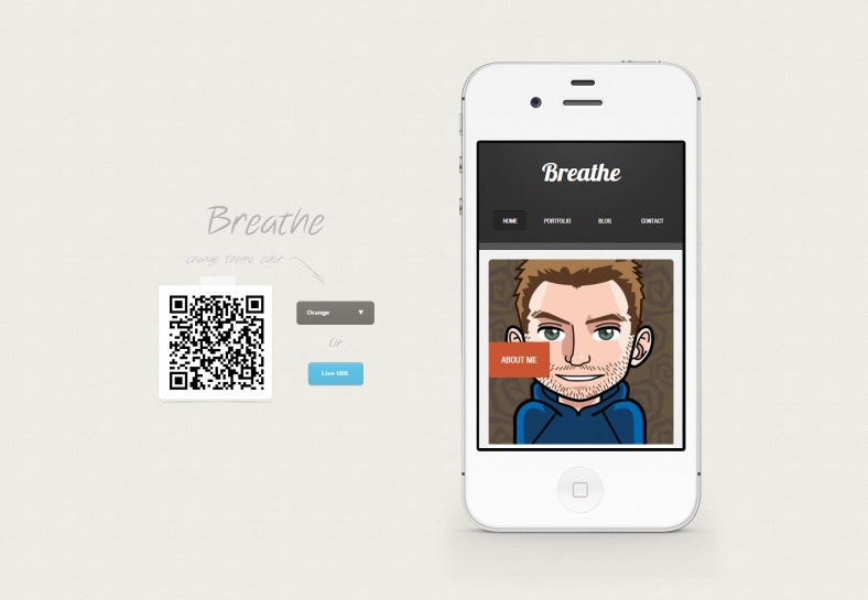 breathe html5 jquery mobile based template 788x545