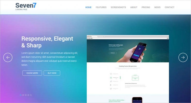 Flat Bootstrap Responsive Landing Page Template