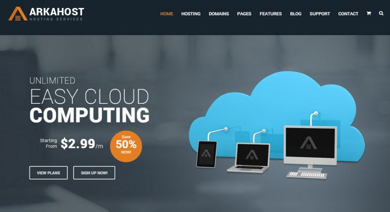 arka host responsive hosting corporate template 788x429