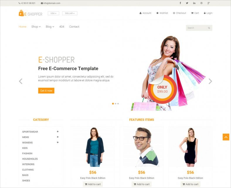 best free ecommerce html template 788x643