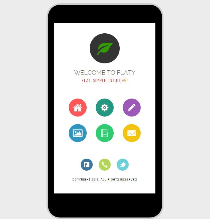 flaty mobile retina html5 css3 and iwebapp