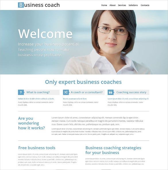 professional responsive business school website template