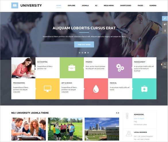 great look k2 component multipurpose education template