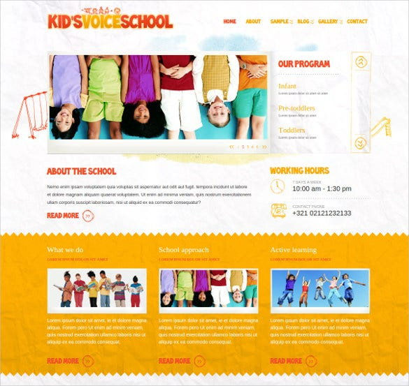 beautiful kids voice school html website template