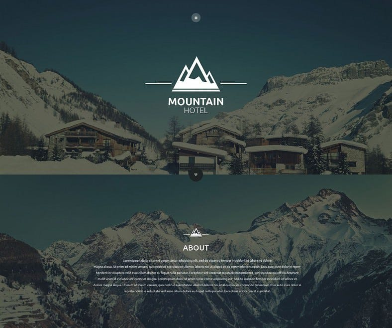 mountain hotel website template 788x658