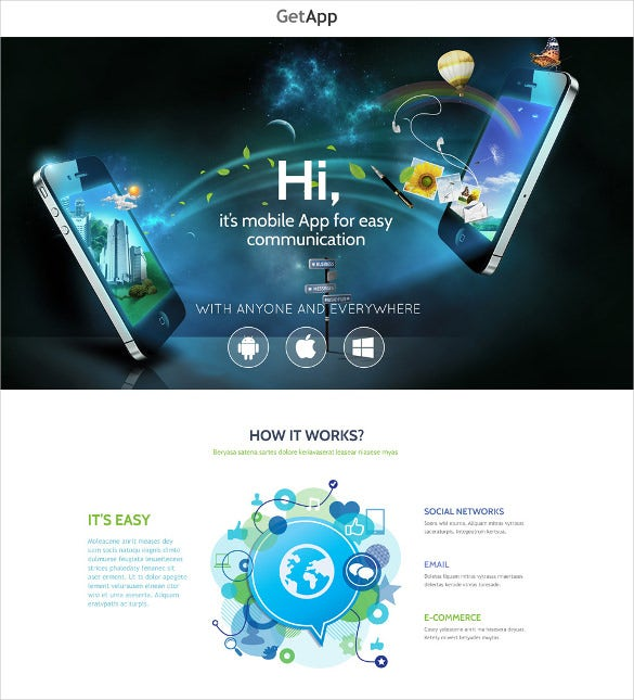 stylish web development one page website template