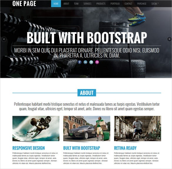 fully responsive design retina ready one page website template