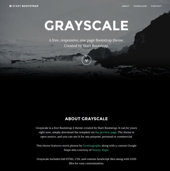 dark layout multipurpose one page website theme free download