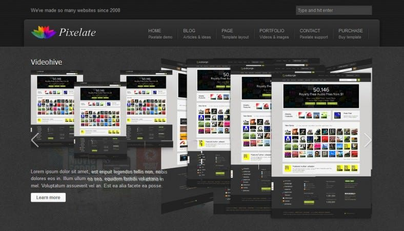 pixelate corporate website template 788x450