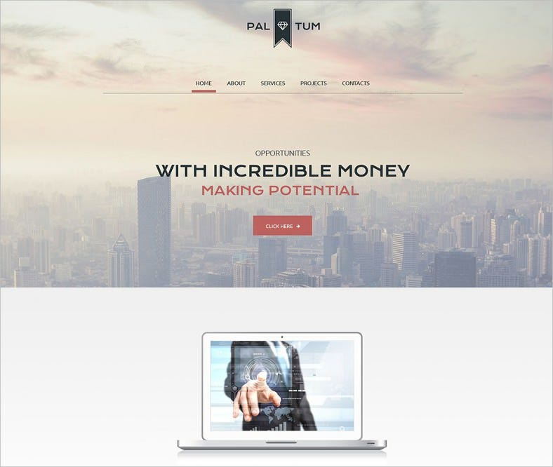 corporate site website template 788x666