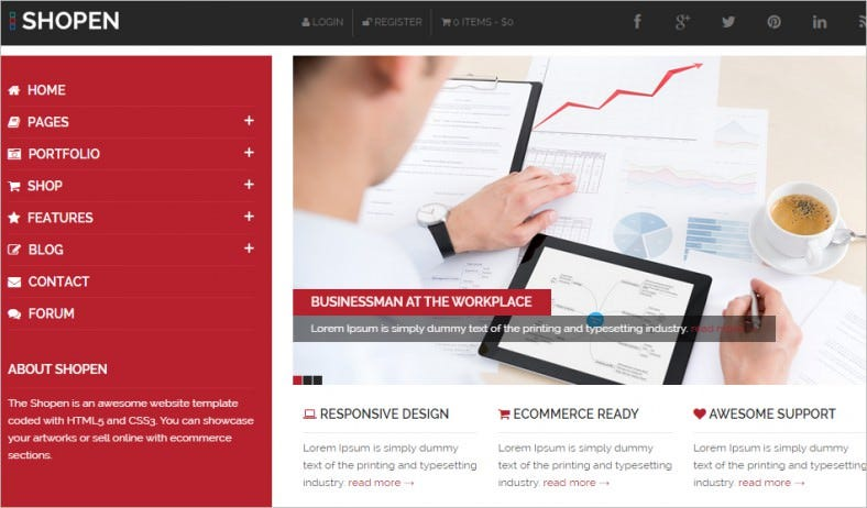 shopen creative corporate html5 website template 788x462