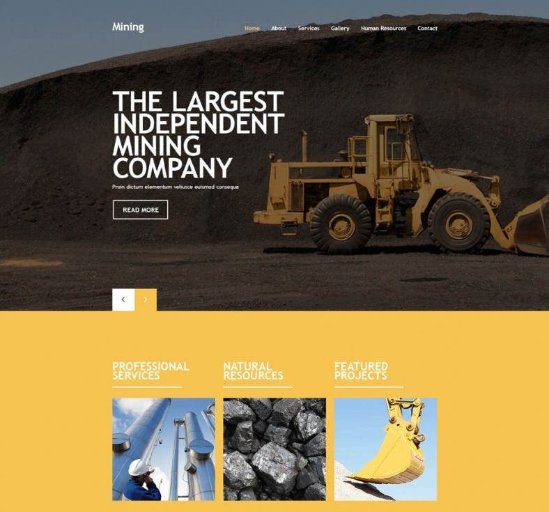 mining company responsive website template1 788x735