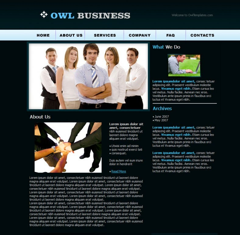 corporate busines website template 788x771