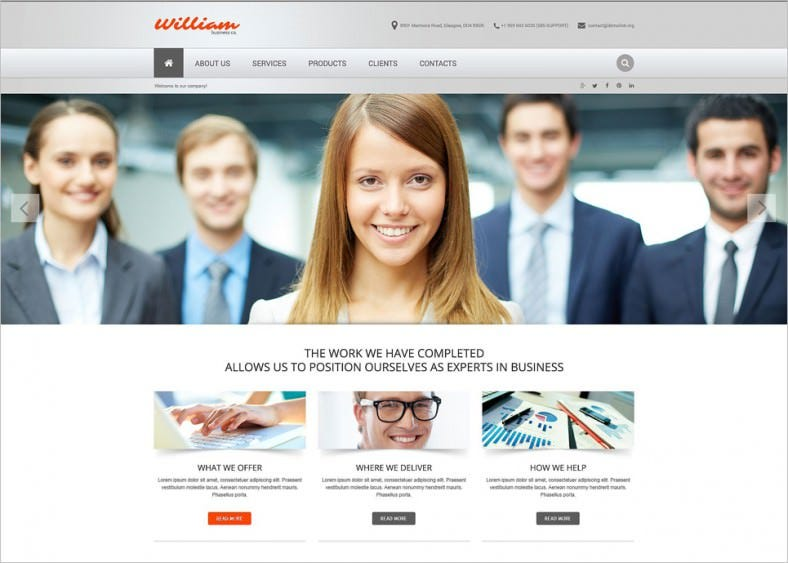 9 fabulous corporate website templates free premium templates online business image website template 788x563 wajeb Images