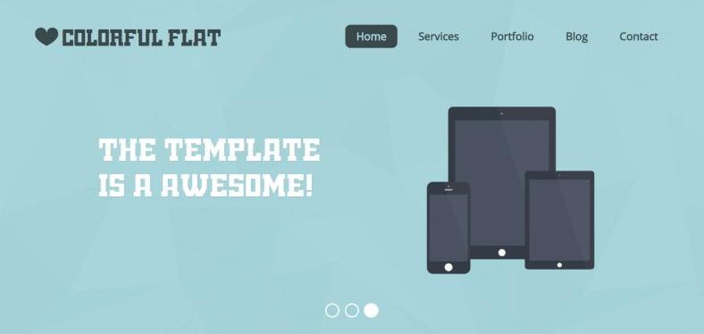 flat single page responsive web template 788x374
