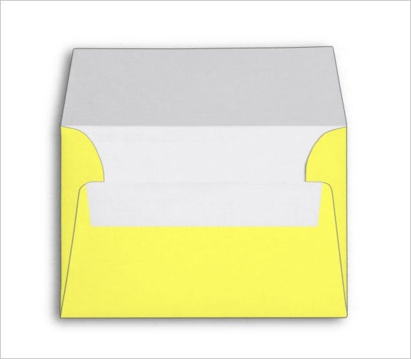 yellow colour costom 4x6 envelope template