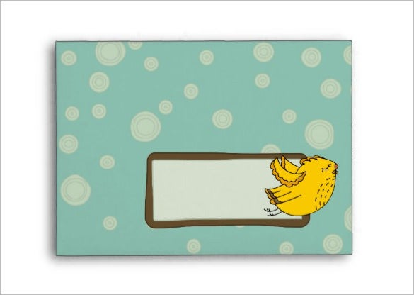 chick bird 4x6 envelope template