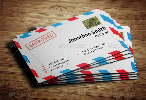 Business Envelope Template   Free Printable Sample Example