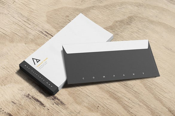 business envelope psd template download
