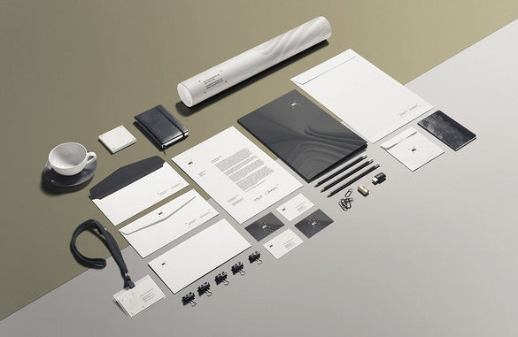 beautiful business envelope psd template