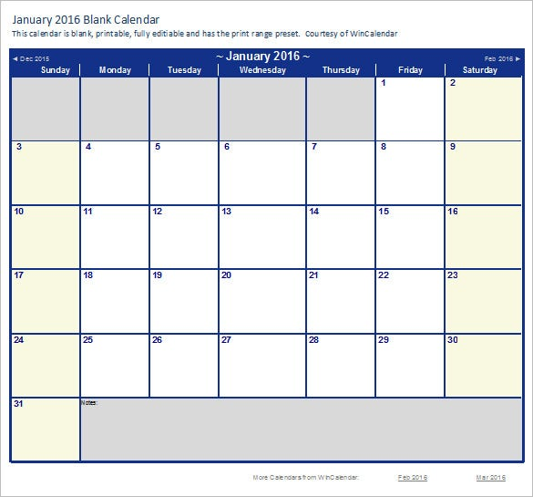 calendar template excel downloads