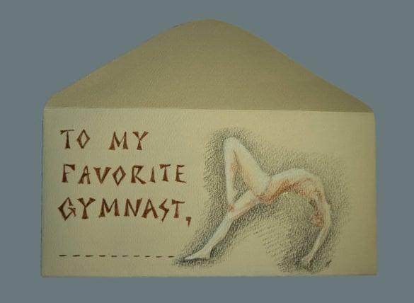 money envelope template for gymnastics