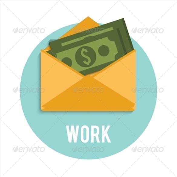 vector eps money envelope template