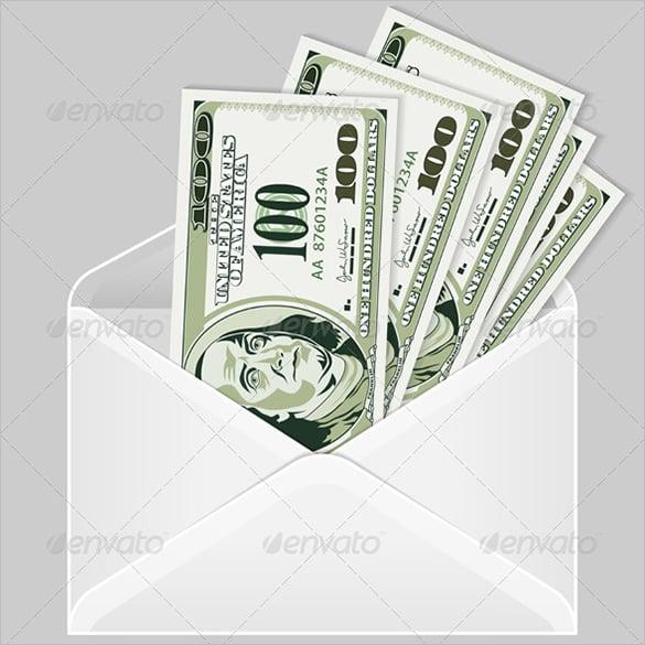 money envelope vector eps template