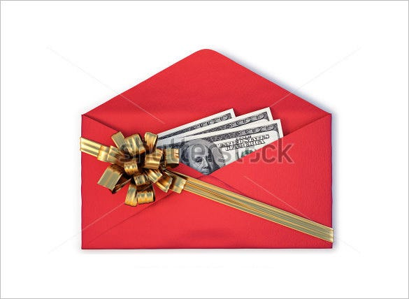 Money Envelope Template   Free Printable Sample Example
