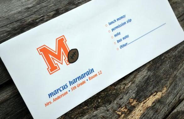 Money Envelope Template   Free Printable Sample Example