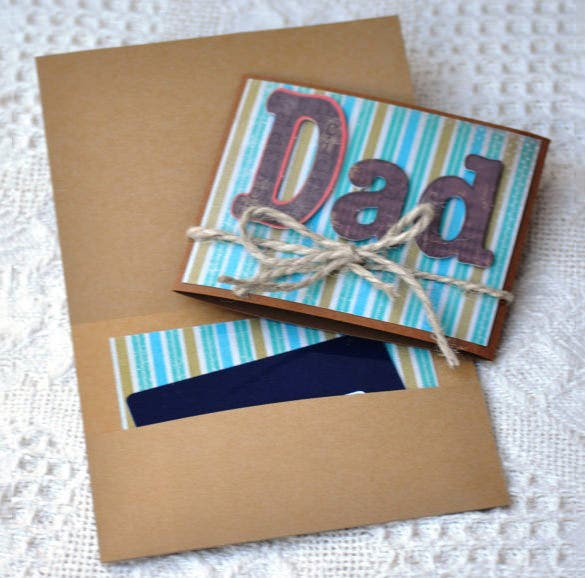 Money envelope template 18 free printable sample example fathers day money envelope is a handmade item and it comes with brown envelope and the greeting card is written as dad it comes with blue textured color bookmarktalkfo Images